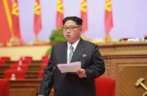 epa05292567 A picture made available on 07 May 2016 by North Korea's Korean Central News Agency (KCNA) shows North Korean leader Kim Jong-un speaking during the 7th Congress of the Workers' Party of Korea (WPK), the first such congress held in 36 years since 1980, in Pyongyang, North Korea, 06 May 2016.  EPA/KCNA