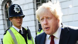 epa05387300 Former London Mayor Boris Johnson departs his home in London, Britain, 24 June 2016. Britain's Leave Campaign won the UK EU Referendum by 52 to 48 per cent 24 June. Prime Minister David Cameron has stated he will resign.  EPA/ANDY RAIN