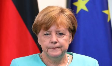 epa05387585 German Chancellor Angela Merkel reacts while delivering a statement on the results of Britain's EU referendum, at the Federal Chancellery in Berlin, Germany, 24 June 2016. Britons in a referendum on 23 June have voted by a narrow margin to leave the European Union (EU). Media reports on early 24 June indicate that 51.9 per cent voted in favour of leaving the EU while only 48.1 per cent voted for remaining in.  EPA/KAY NIETFELD