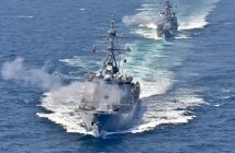epa05371169 A handout picture made available by the Republic of Korea Navy's 2nd Fleet on 17 June 2016 shows South Korea's warships engaged in a naval drill off the country's west coast on 16 June 2016. The drill featured an exercise created to simulate the defence of South Korea's sea border. The three-day drill involves some 20 warships and several of military helicopters.  EPA/REPUBLIC OF KOREA NAVY 2ND FLEET / HANDOUT SOUTH KOREA OUT HANDOUT EDITORIAL USE ONLY
