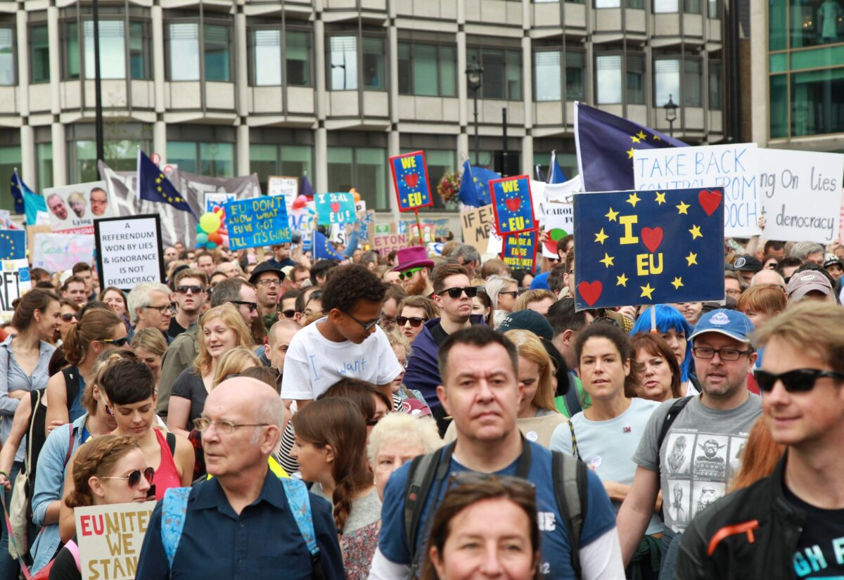 """""""Марш на Европа"""" след Брекзита снимка: БГНЕС"""