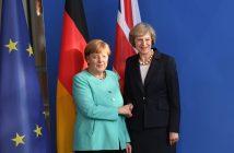 Тереза Мей и Ангела Меркел снимка: БГНЕС
