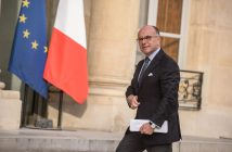 epa05443037 French interior minister Bernard Cazeneuve arrives at Elysee Palace for a meeting with Francois Hollande and religious representatives, in Paris, France, 27 July 2016. According to reports, two hostage takers were killed by the police after they took hostages at a church in Saint Etienne du Douvray on 26 July 2016. One of the hostages, a priest was killed by one of the perpetrators.  EPA/CHRISTOPHE PETIT TESSON