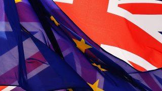 ЕС великобритания знамена