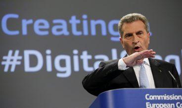 Гюнтер-Йотингер, Еврокомисар по Цифровата икономика и обществото, снимка: БГНЕС