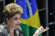 epa05517053 (FILE) A file photo dated 29 August 2016 shows suspended Brazilian President Dilma Rousseff presenting her final arguments in the impeachment process to the Senate, in Brasilia, Brazil. Brazil's Senate on 31 August 2016 voted to impeach President Dilma Rousseff after finding her guilty of manipulating the state budget. Interim President Michel Temer will complete her mandate, which ends on 01 January 2019.  EPA/CADU GOMES