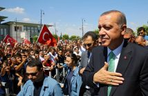 epa05436670 A handout picture provided by Turkish President Press office shows Turkish President Recep Tayyip Erdogan (R) speaking to his supporters after Friday pray in Ankara, Turkey, 22 July 2016. Turkish parliament on 21 July formally approved a three-month state of emergency declared by Turkish President Erdogan. The 15 June's failed coup attempt's aftermath was followed the dismissal of 50,000 workers and the arrest of 8,000 people after the 15 July failed coup attempt. At least 290 people were killed and almost 1,500 injured amid violent clashes on 15 July as certain military factions attempted to stage a coup d'etat. The UN and various governments and organizations have urged Turkey to uphold the rule of law and to defend human rights.  EPA/TURKISH PRESIDENTAL PRESS OFFICE / HANDOUT  HANDOUT EDITORIAL USE ONLY/NO SALES