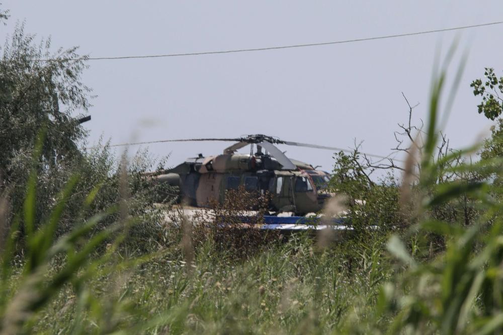 Гърция, турски хеликоптер