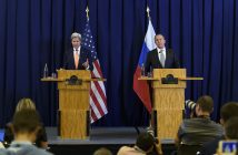 US Secretary of State and Russian Foreign Minister discuss Syrian conflict during meeting