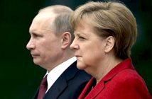 Владимир Путин и Ангела Меркел Снимка: washingtontimes.com