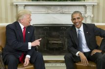 Новоизбраният президент на САЩ Доналд Тръмп и настоящият държавен глава Барак Обама снимка: ЕРА/БГНЕС