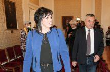 Корнелия Нинова и Валери Симеонов, снимка: БГНЕС