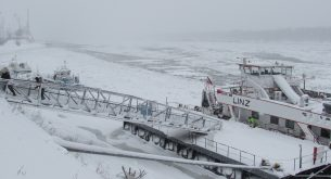 Русе, Дунав, сняг