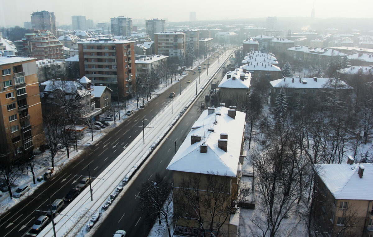 София, зима, сняг