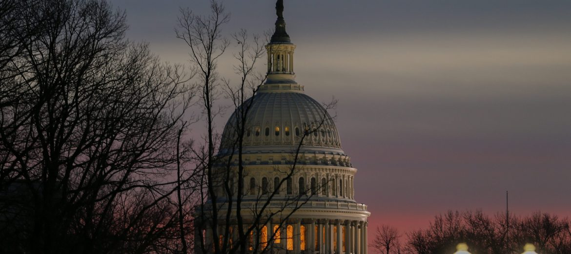 epa05732471 The dome of the US Capitol at dusk on the eve of President-elect Donald J. Trump's inauguration as the 45th President of the United States in Washington, DC, USA, 19 January 2017. Trump won the 08 November 2016 election to become the next US President.  EPA/ERIK S. LESSER