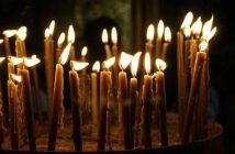 църква, свещи