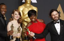 Mahershala Ali (Actor in a Supporting Role for Moonlight), Emma Stone (Actress in a Leading Role for La La Land), Viola Davis (Actress in a Supporting Role for Fences) and Casey Affleck (Actor in a Leading Role for Manchester by the Sea)