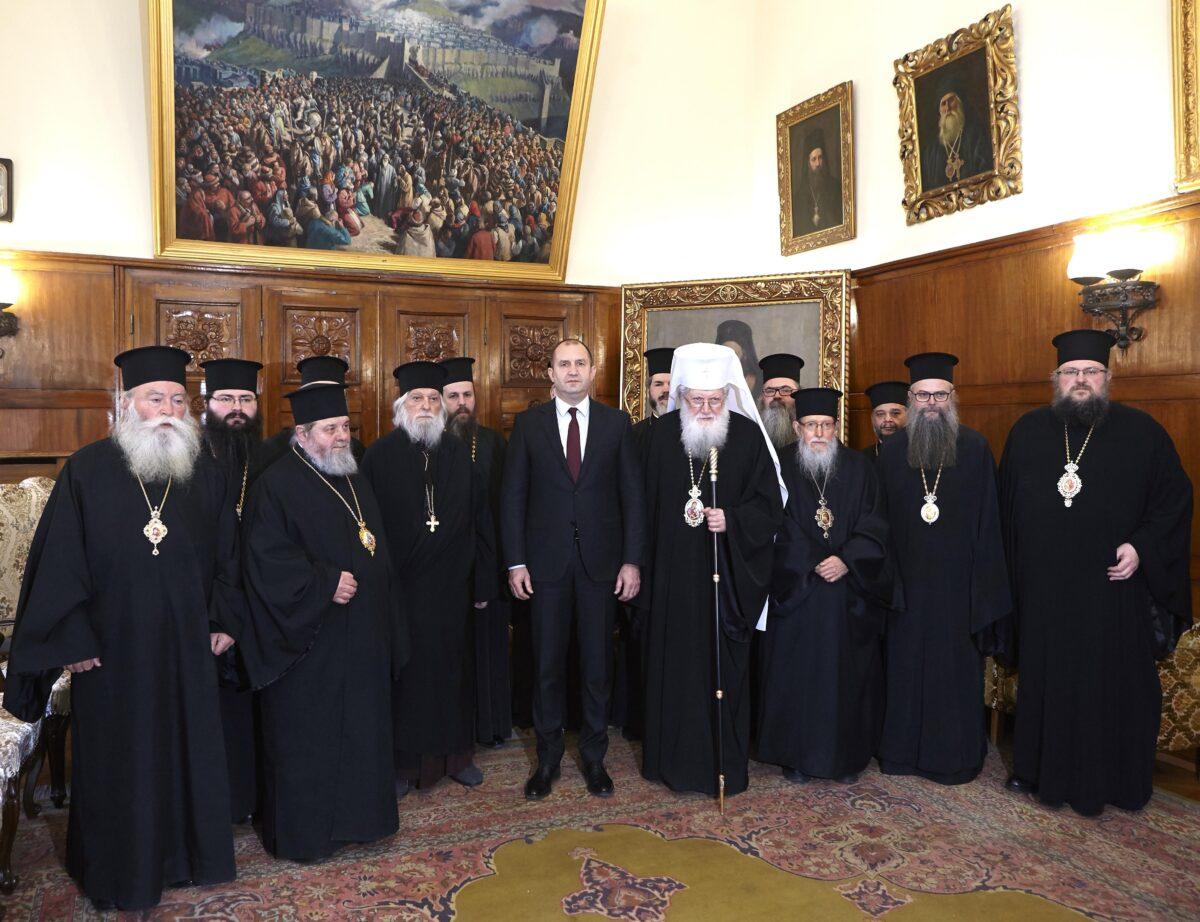 Президентът Румен Радев и патриарх Неофит