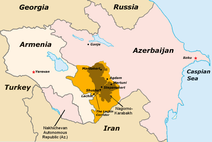 Нагорни Карабах, регион