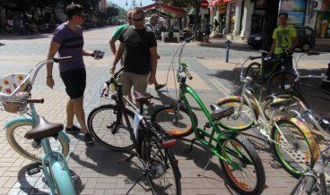 велосипедисти, велосипед, колело