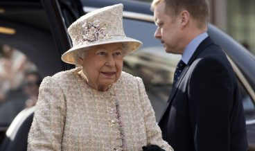 epa05820467 Britain's Queen Elizabeth II arrives with her husband Prince Philip, the Duke of Edinburgh (unseen) to officially open the new development at the Charterhouse in London, Britain, 28 February 2017. The historic buildings complex was founded in 1348 and serves as a almshouse.  EPA/WILL OLIVER