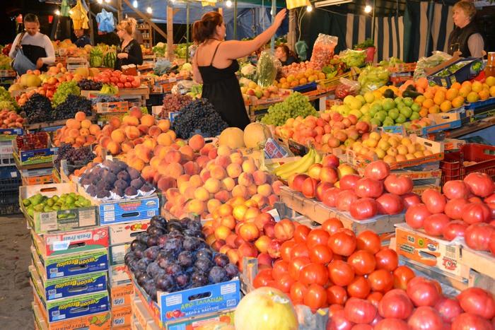 плодове, зеленчуци, пазар