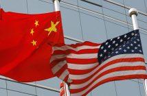 Китай, САЩ, знамена, CNN