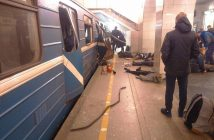 epa05886219 A handout photo made available by megapolisonline.ru via VKontakte (VK) shows victims shortly after an explosion in a metro of Saint Petersburg, Russia, 03 April 2017. According to reports, at least 10 people were killed and dozens injured in an explosion in the city's metro system. The cause of the blast was not immediately known. Russia's National Anti-Terrorist Committee said that the explosions hit a train between Sennaya Ploshchad and Tekhnologichesky Institut stations, media added.  EPA/megapolisonline.ru HANDOUT -- BEST QUALITY AVAILABLE -- HANDOUT EDITORIAL USE ONLY/NO SALES/NO ARCHIVES