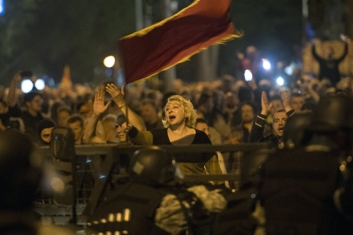 Protesters storm Parliament in Skopje