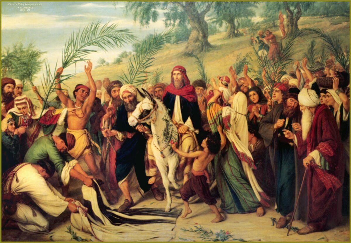 Иисус Христос, влизане, Йерусалим, уикимедия