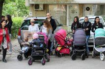майки, деца, колички