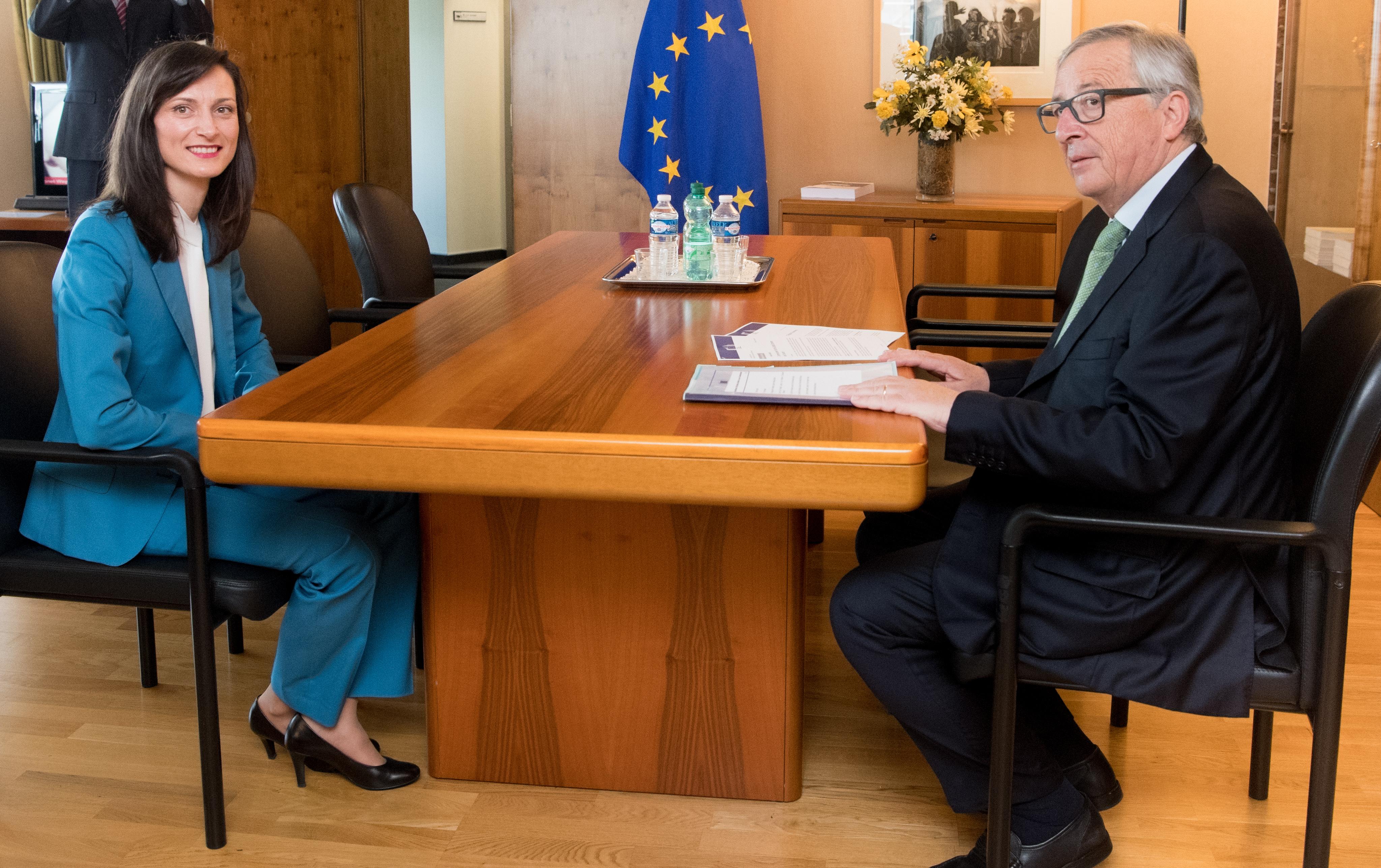 Jean-Claude Juncker, Mariya Gabriel
