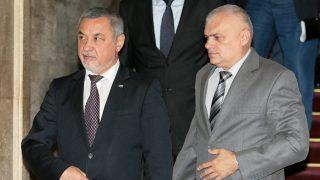 Валери Симеонов и Валентин Радев снимка: БГНЕС