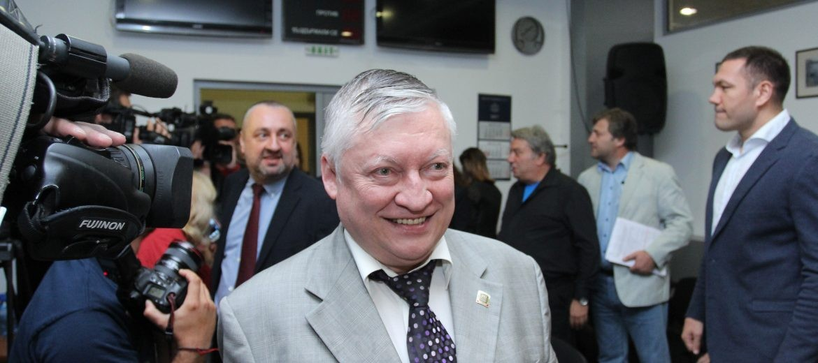 Borissov canceled meeting with Anatoly Karpov, because of remarks that the Cyrillic alphabet comes from Byzantium