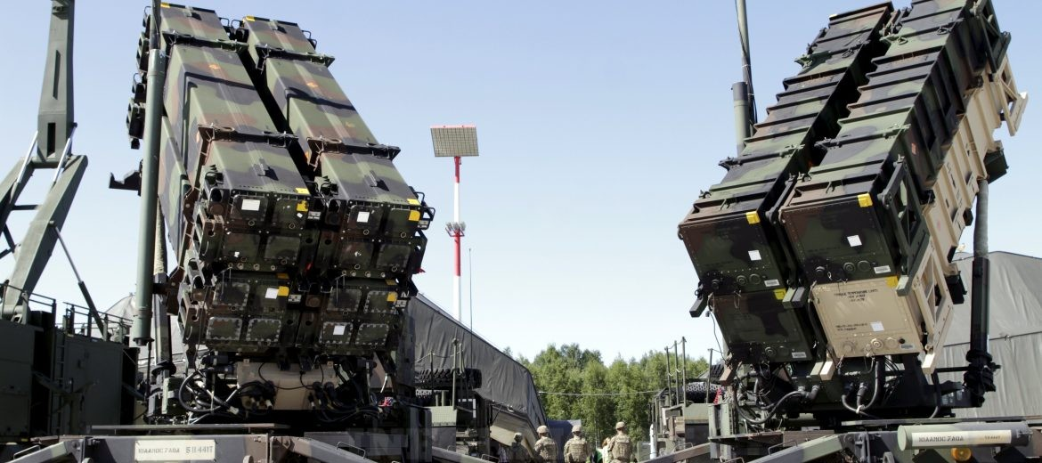 epa06098545 Two US surface-to-air missile system 'Patriot' launchers are set up during the air defence exercise 'Tobruq Legacy 2017' at the Sauliai Air base, Lithuania, 20 July 2017. The exercise, which according to AIRCOM, the Allied Air Command of the North Atlantic Treaty Organization (NATO), continues until 22 July mainly aims at serving 'not only as validation of newly obtained capabilities, but provides an opportunity to improve the level of interoperability of multinational Surface-Based Air and Missile Defence systems forces' as said on the AIRCOM's website.  EPA/VALDA KALNINA
