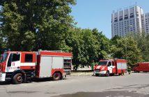 пожар, пожарни, хотел, София