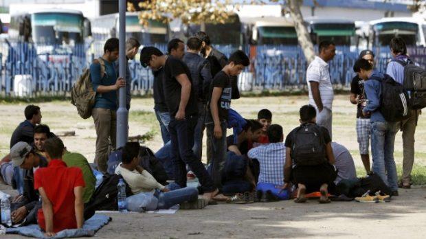 протест мигранти рим
