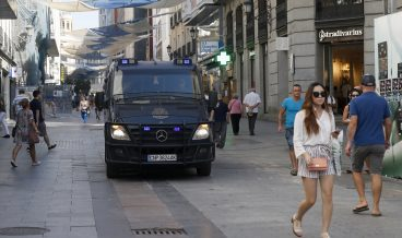 Security measures in Madrid after terrorists attacks in Catalonia
