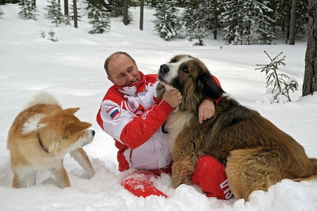 Владимир Путин с Юме и Бъфи