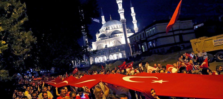 Турция преврат митинг джамия