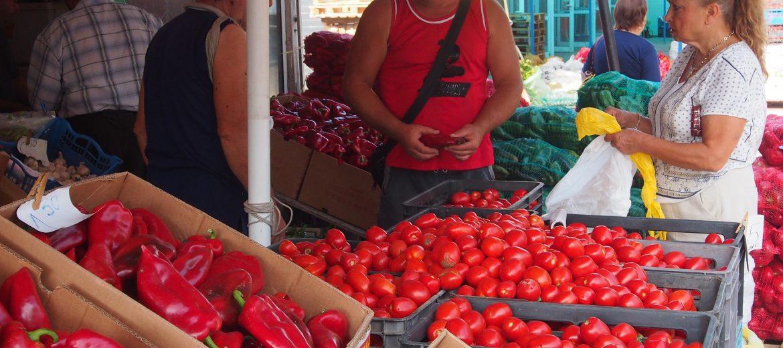 зеленчуци пазар домати чушки