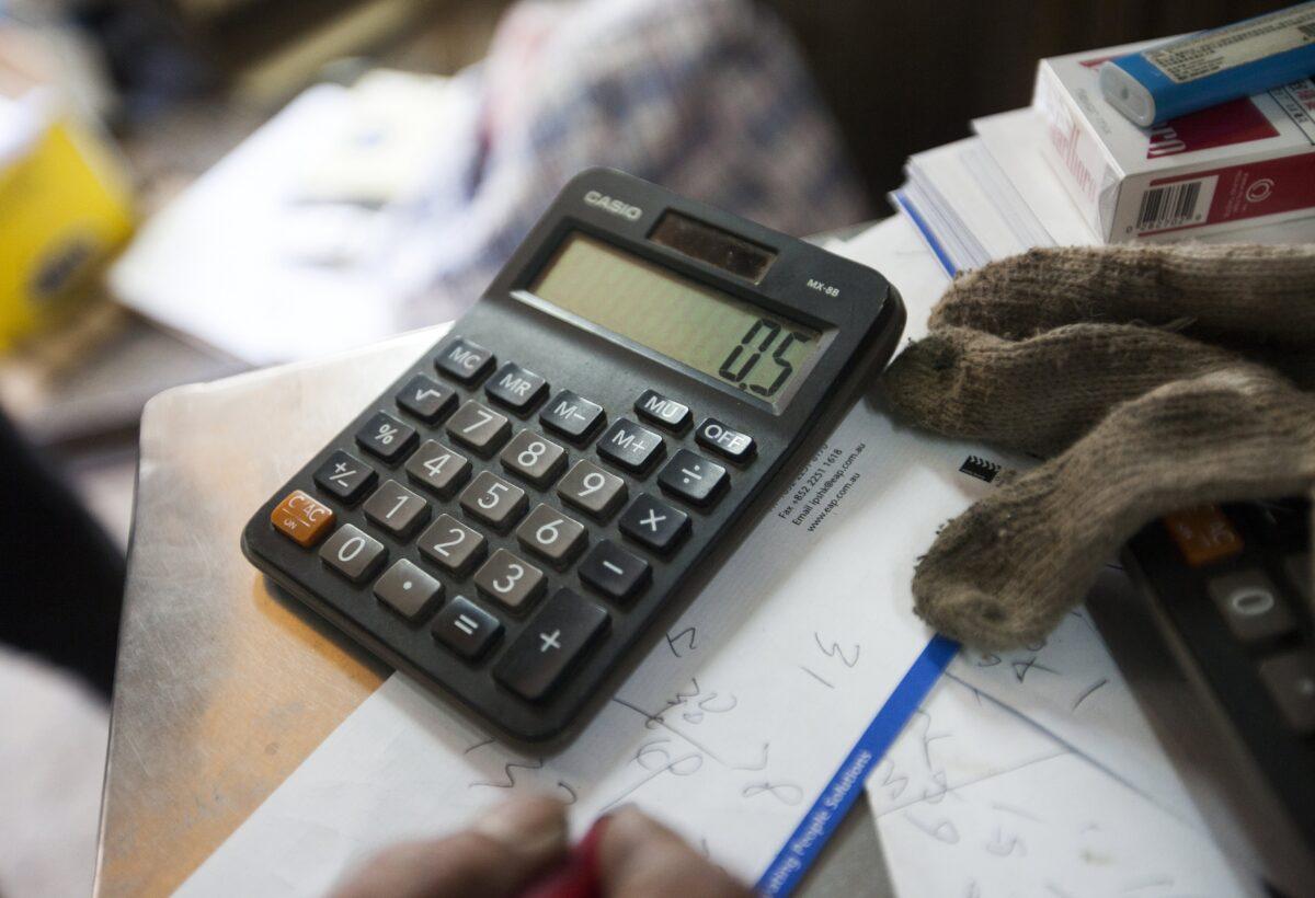 калкулатор, пари,сметки
