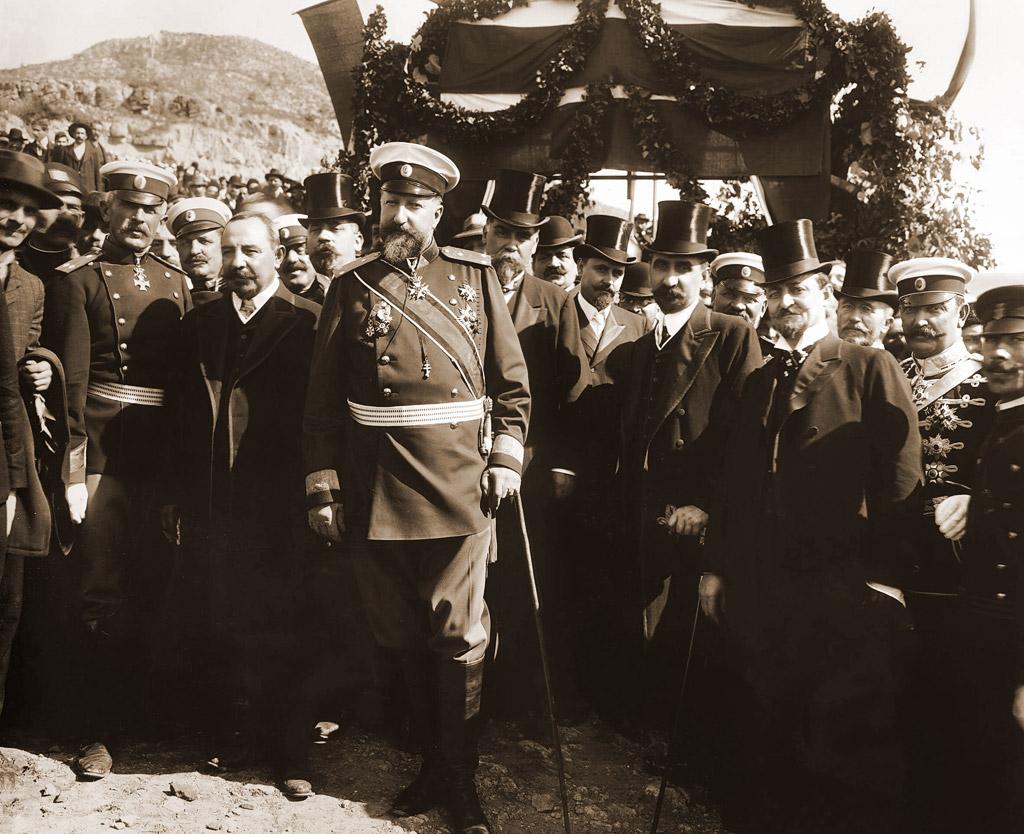 Цар Фердинанд І, заобиколен от членовете на Кабинета във Велико Търново - 22 септември 1908 г.