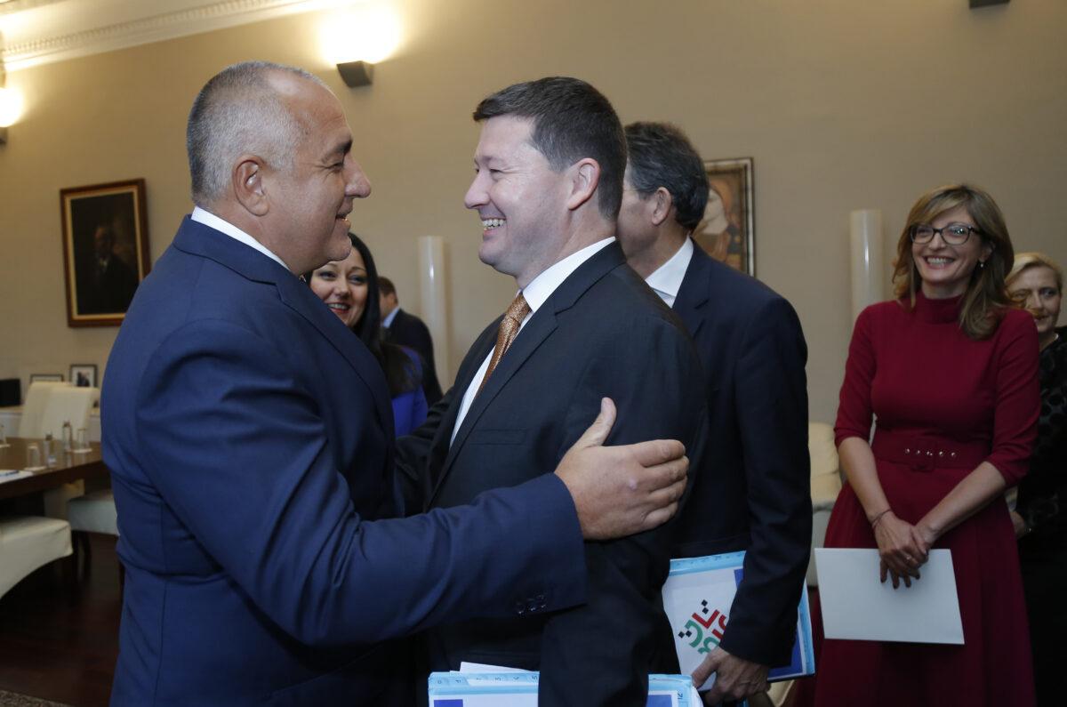 Бойко Борисов и началникът на кабинета на председателя на ЕК Мартин Селмайер.