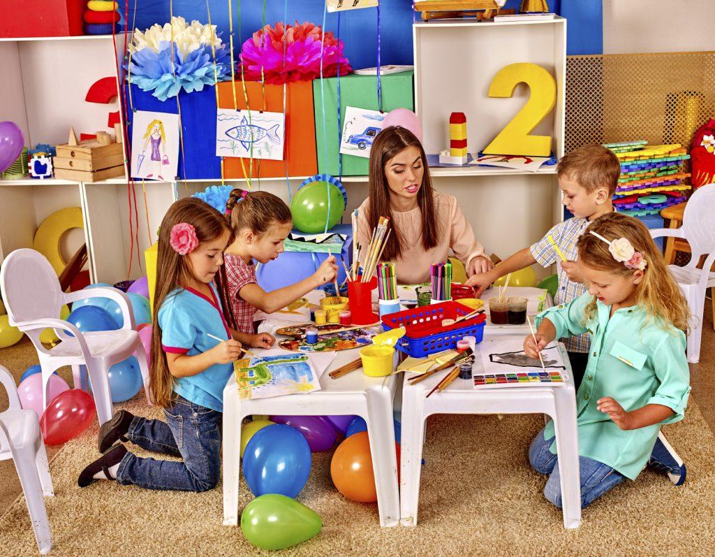 детска градина, деца