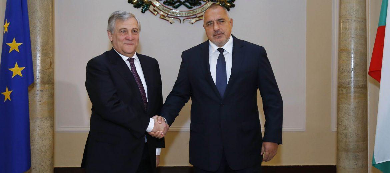 Пресконференция след двустранната среща на премиера Борисов и председателя на ЕП Антонио Таяни (видео)