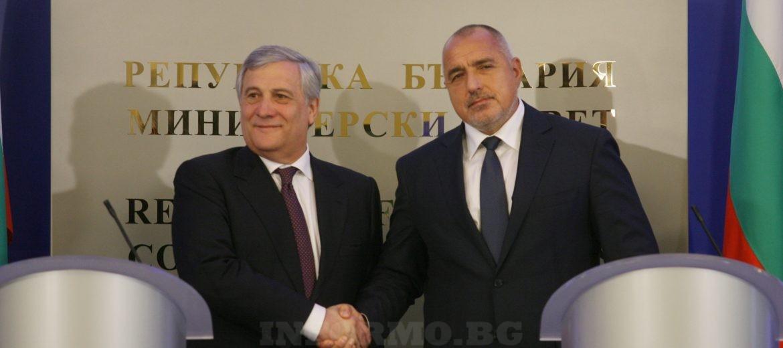 След пленарното заседание Борисов и Таяни изведоха Балканите като приоритетен регион (видео)