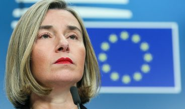 epa06383010 Federica Mogherini the EU High representative for foreign policy gives a press conference at the end of a EU Foreign Ministers meeting in Brussels, Belgium, 11 December 2017. The Foreign Minister met following a meeting with Israeli Prime Minister Benjamin Netanyahu.  EPA/STEPHANIE LECOCQ