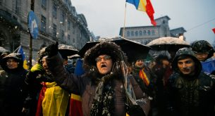 Protest in Bucharest against PSD party plans to change the justice law