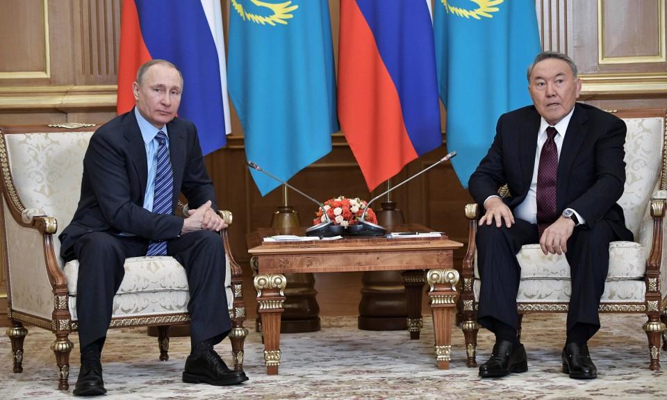 Владимир Путин и Нурсултан Назарбаев, снимка: Alexander Begej